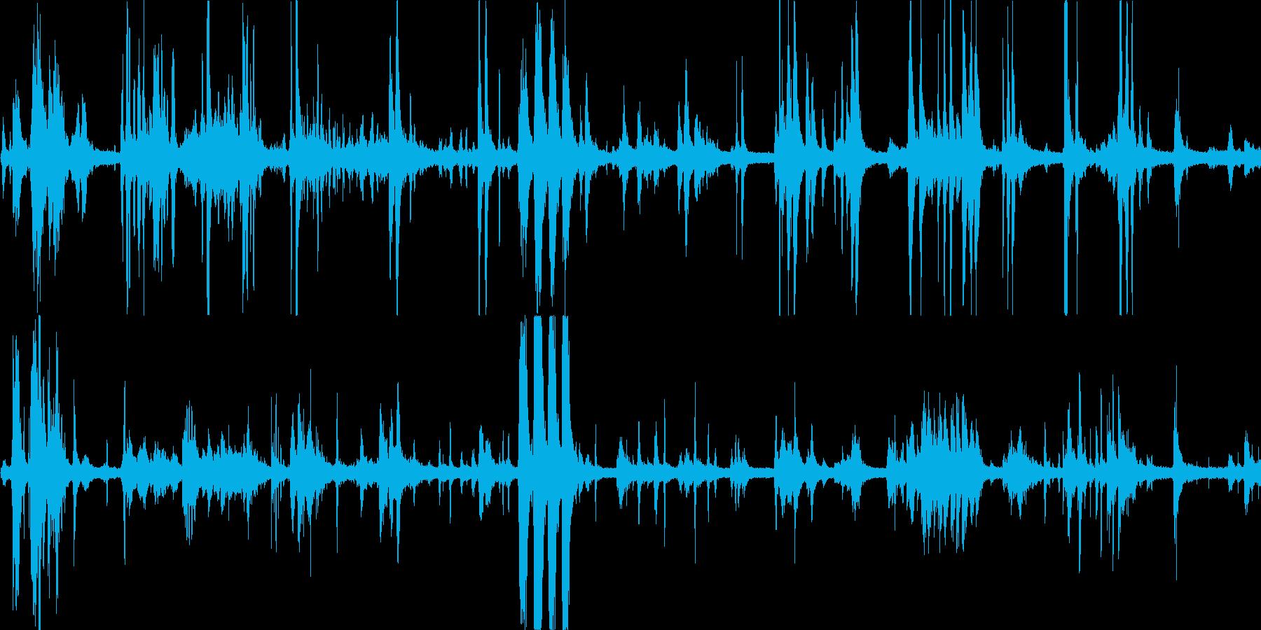 鳥の鳴き声(ピーピー・ピヨピヨ)の再生済みの波形