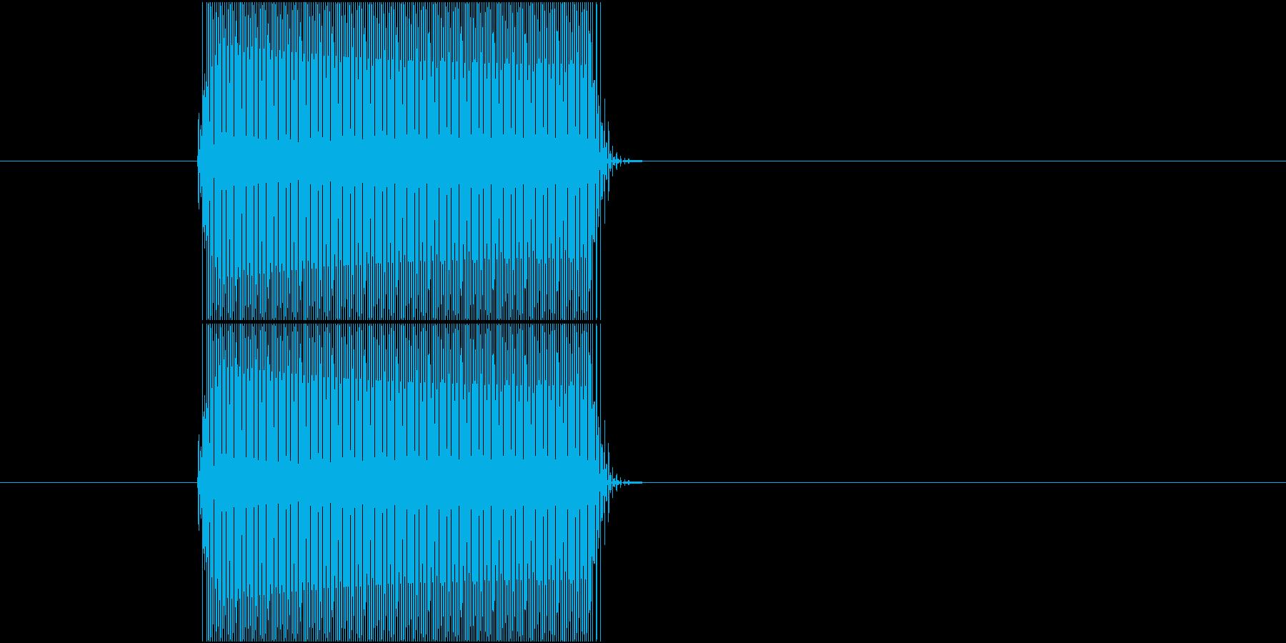 レジのピッというスキャン音 スーパーの再生済みの波形