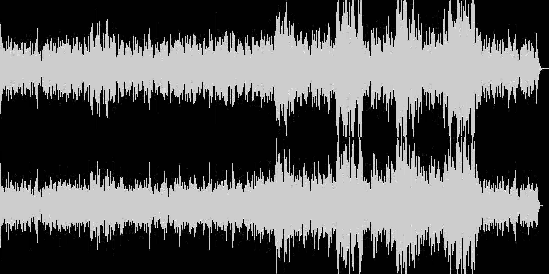 不穏な雰囲気のエスニックサウンドトラックの未再生の波形