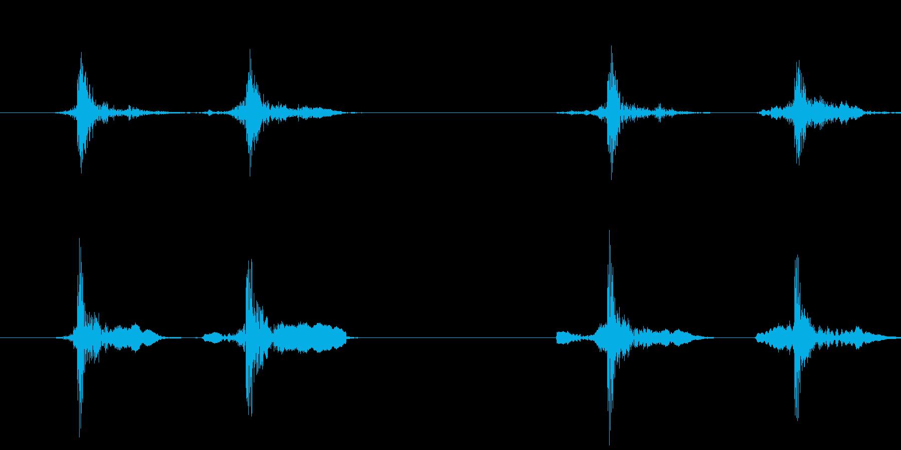 マウスのダブルクリック(カチカチッ)の再生済みの波形