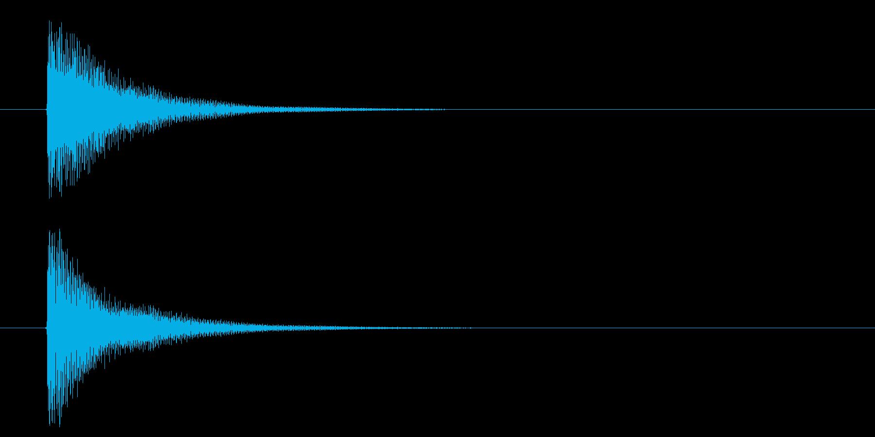 読み込み音 金属的でリッチな響きの再生済みの波形