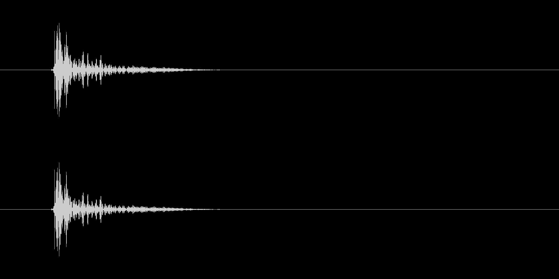 ドン(落下、接触、ノック)の未再生の波形