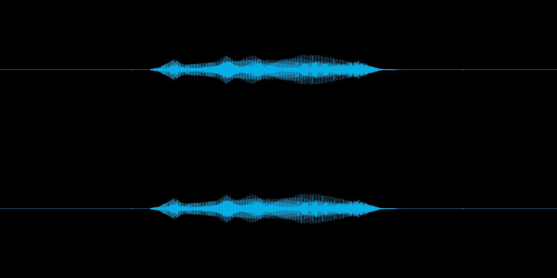 ぷいっの再生済みの波形