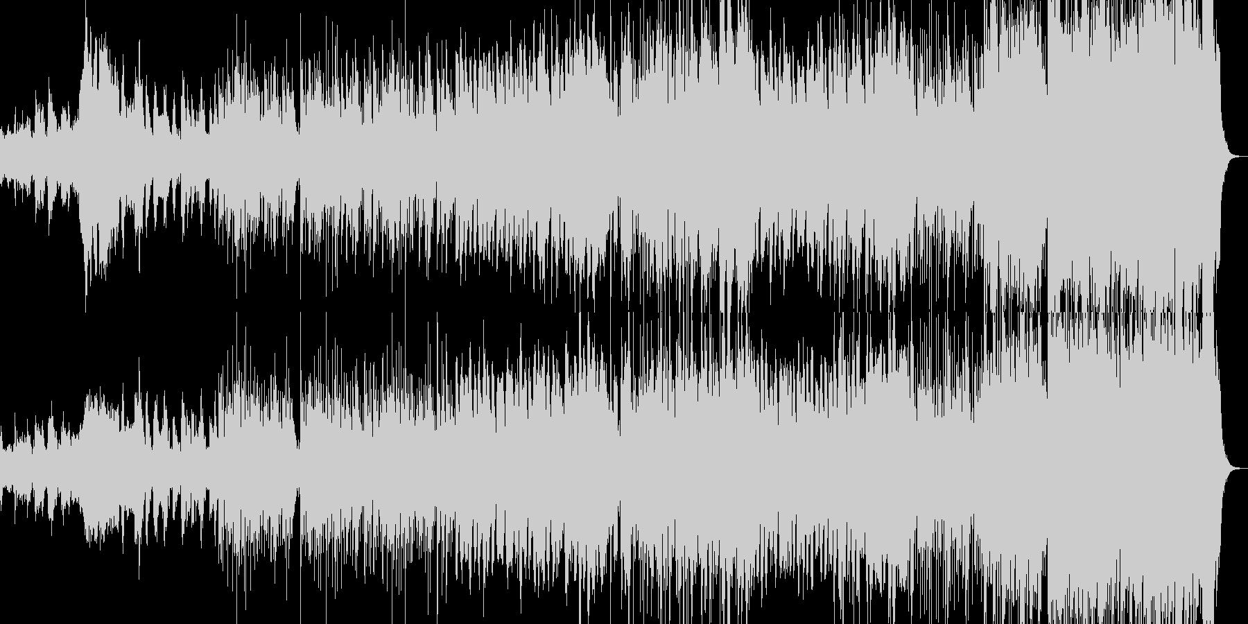 暗いインストの未再生の波形