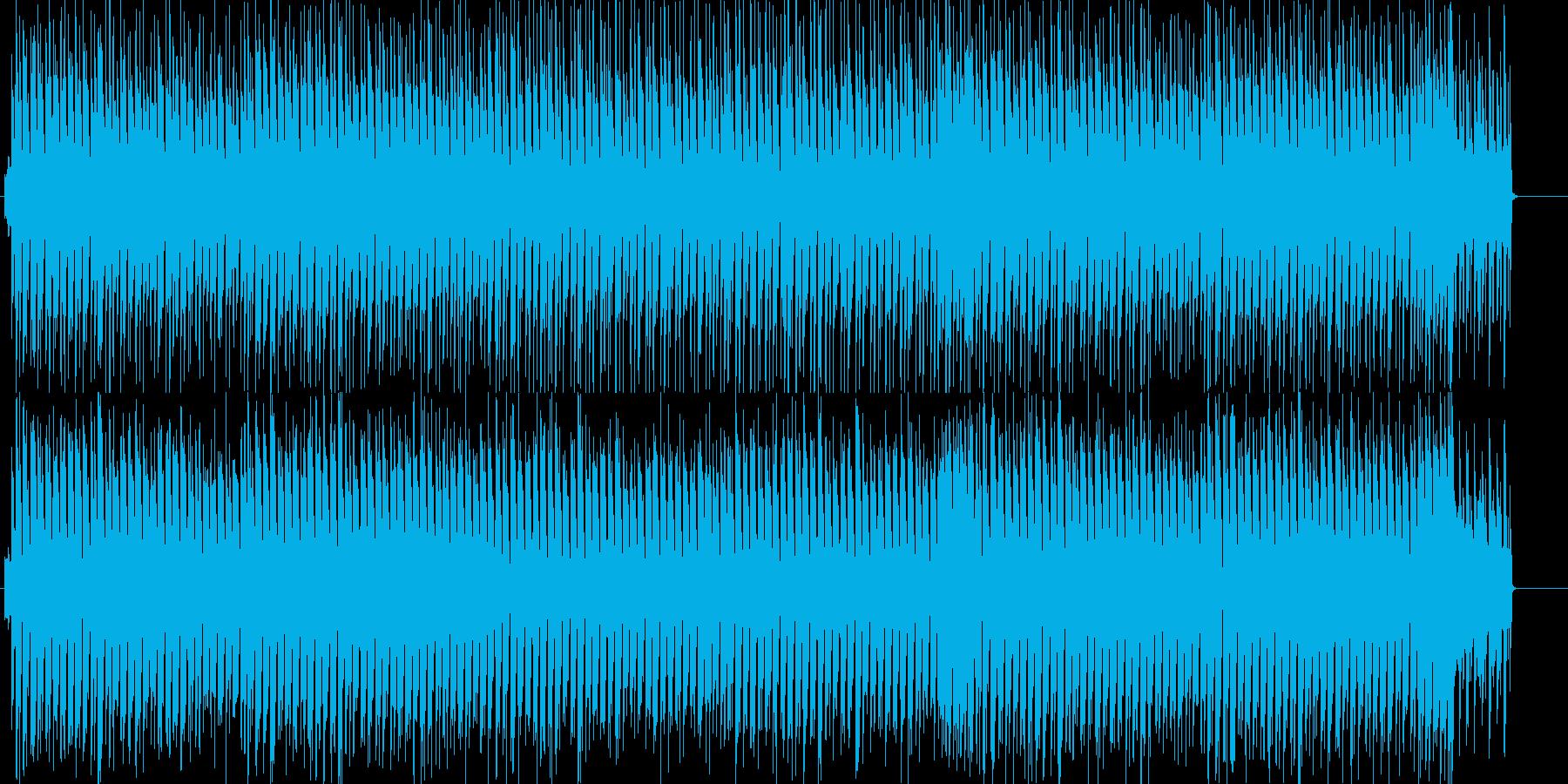 レトロシューティング風のかわいいテクノの再生済みの波形