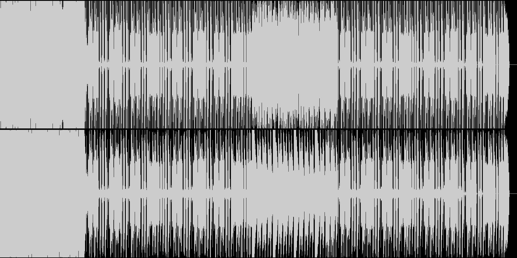 特徴的なシンセ音を使った可愛いポップ曲の未再生の波形