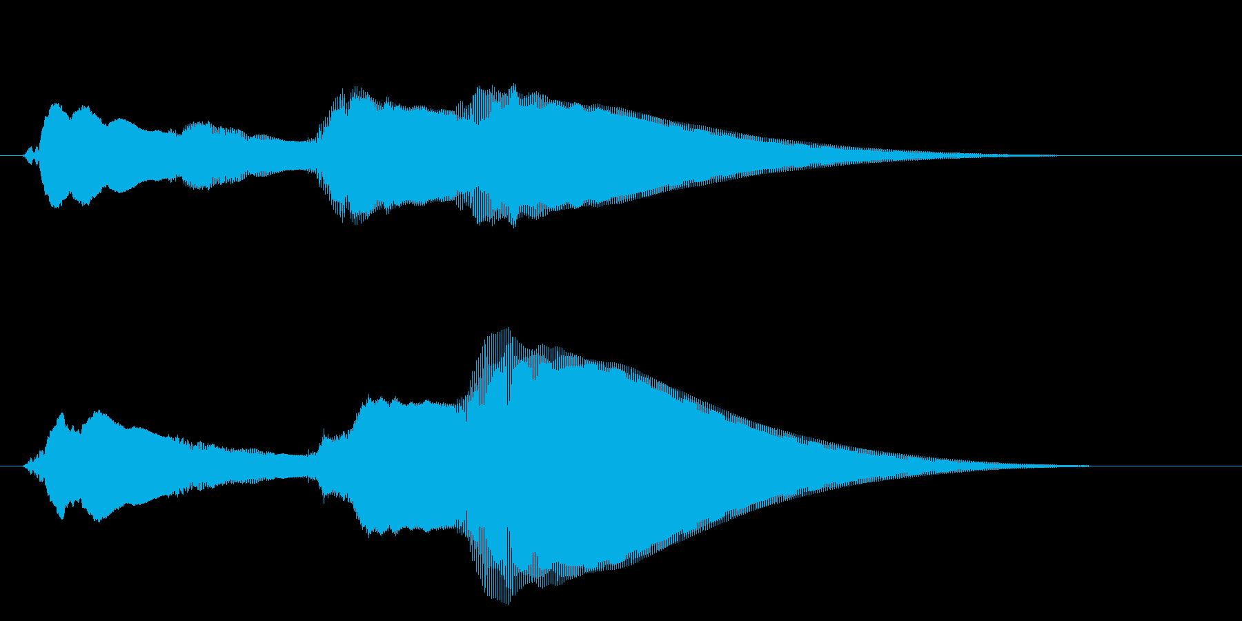 チャイム アナウンス07-6の再生済みの波形