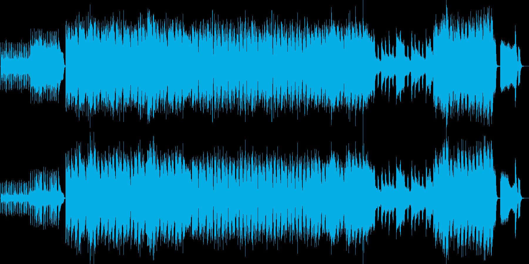 懐かしい感じのコミカルなBGMの再生済みの波形