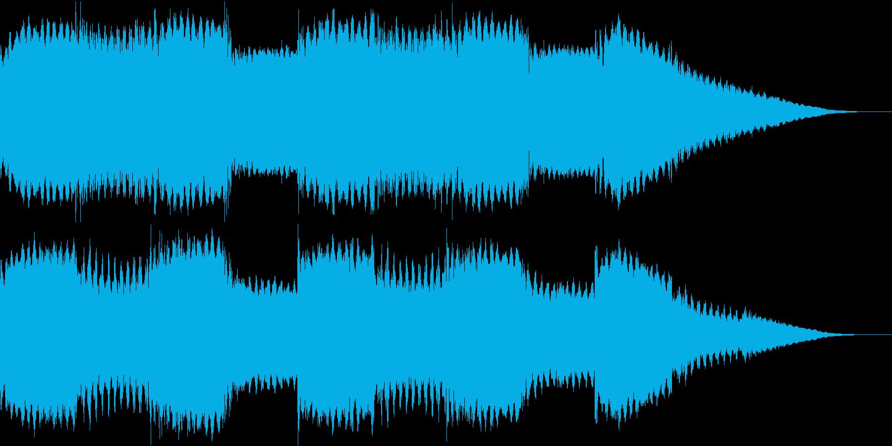 不気味なアンビエントホラー曲の再生済みの波形