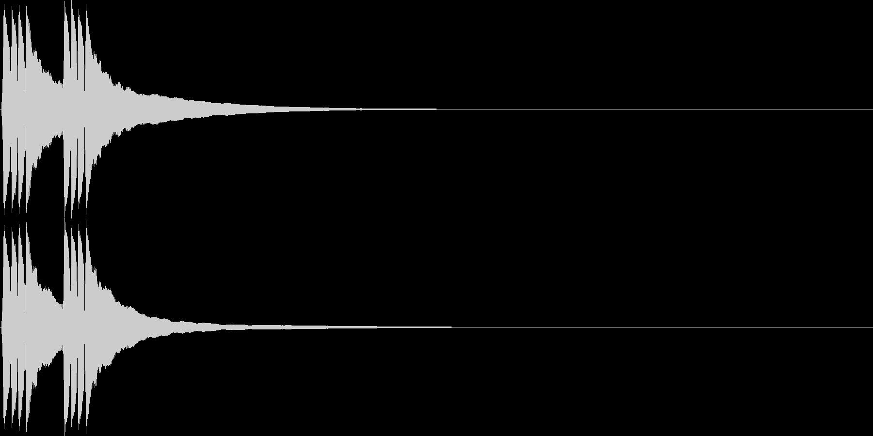 リンリン。自転車のベルC(低)の未再生の波形