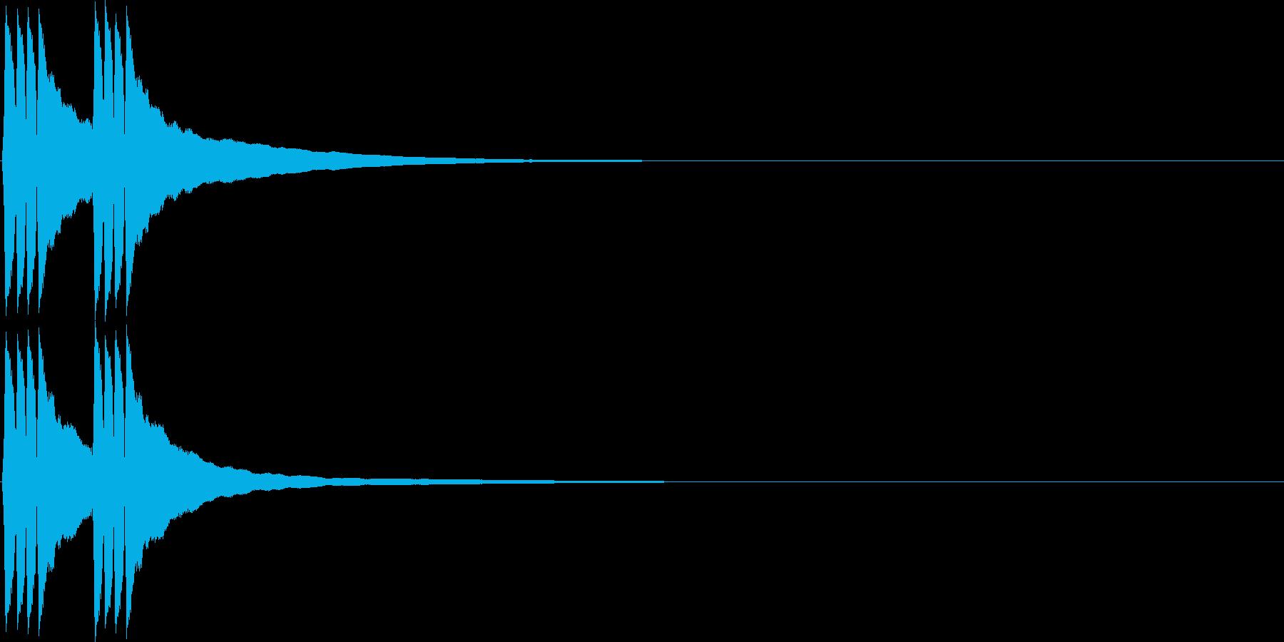 リンリン。自転車のベルC(低)の再生済みの波形