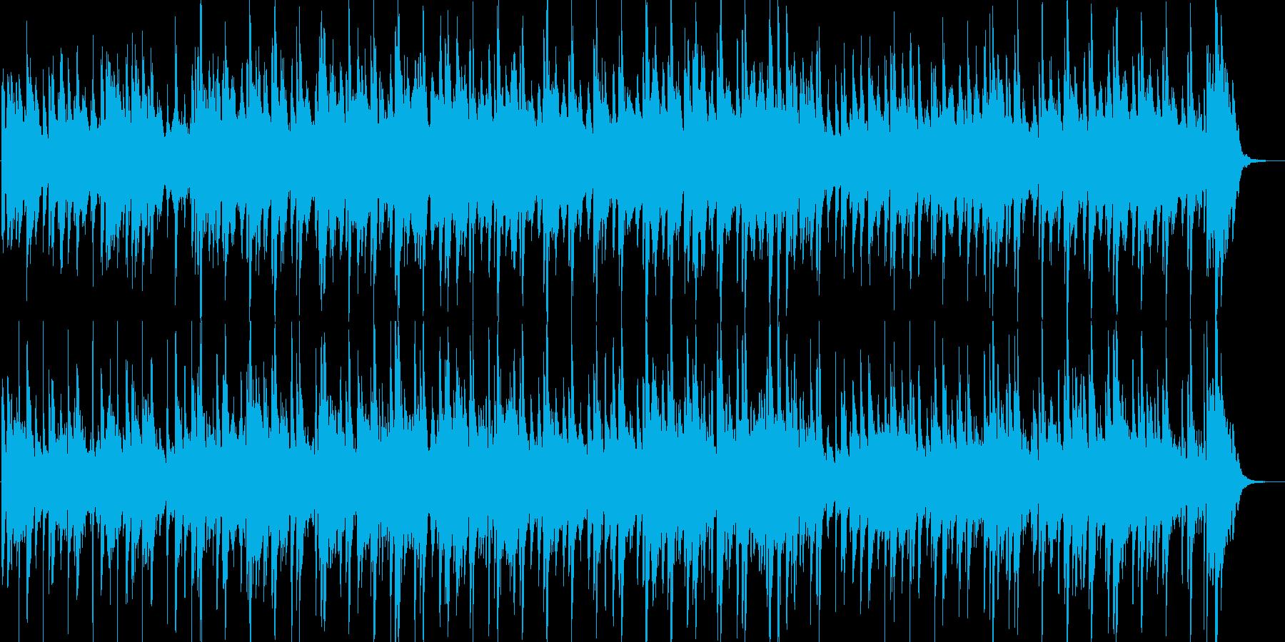 ゆったりとしたピアノのカントリーワルツの再生済みの波形
