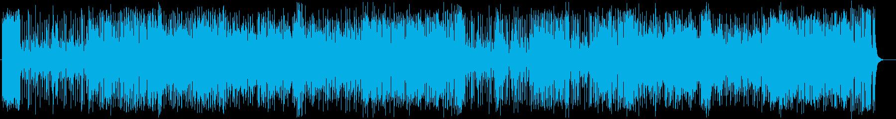 爽やかなメロディのポップスの再生済みの波形
