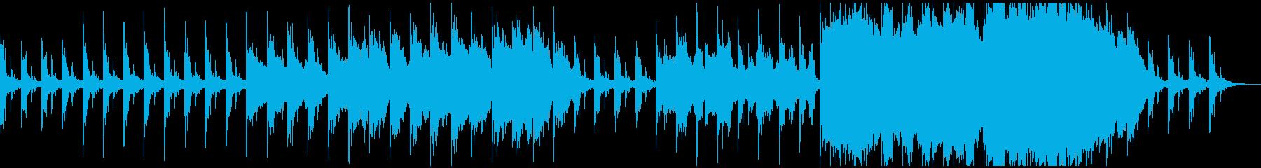 ピアノとストリングスの暗いアンビエントの再生済みの波形