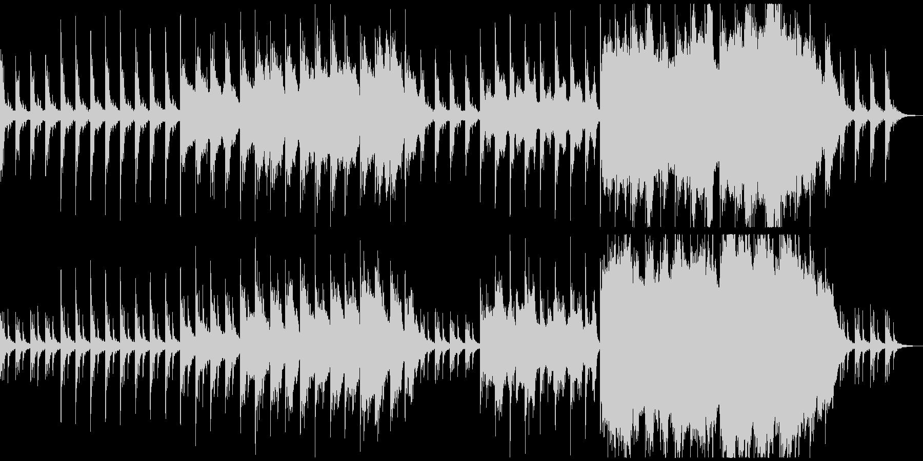 ピアノとストリングスの暗いアンビエントの未再生の波形