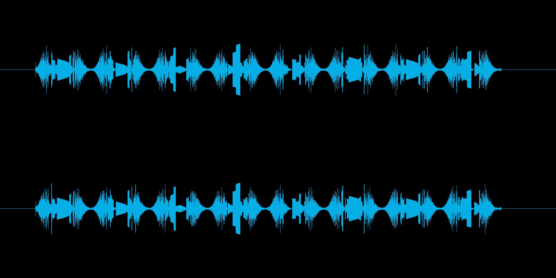 UFOの飛行音の再生済みの波形