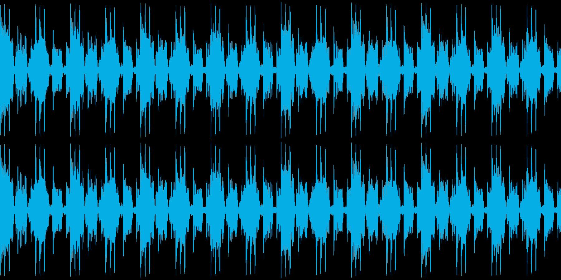 メニュー画面・汎用ループ単調ローファイの再生済みの波形