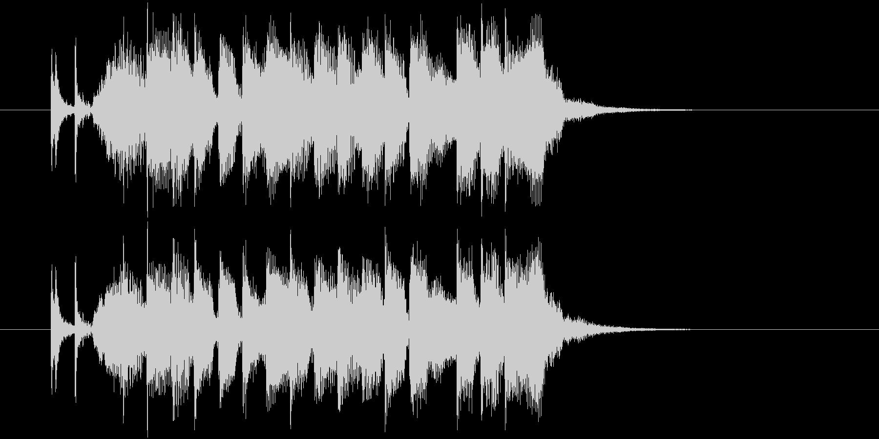 疾走感とドキドキ感のピアノギターサウンドの未再生の波形