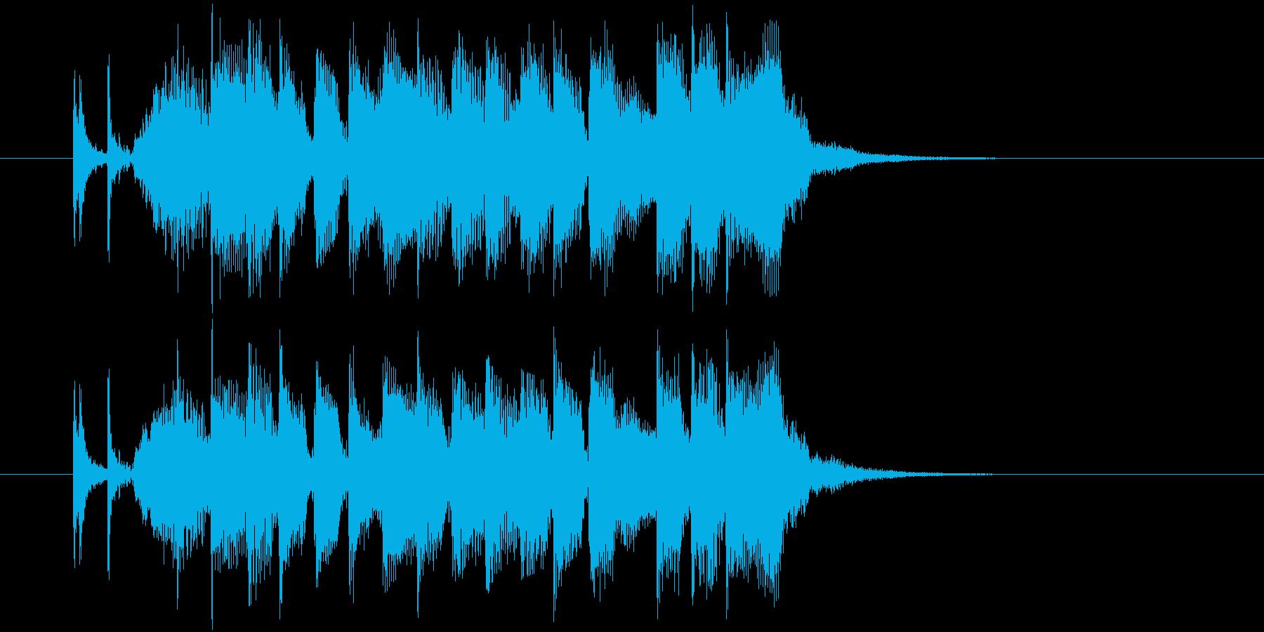 疾走感とドキドキ感のピアノギターサウンドの再生済みの波形