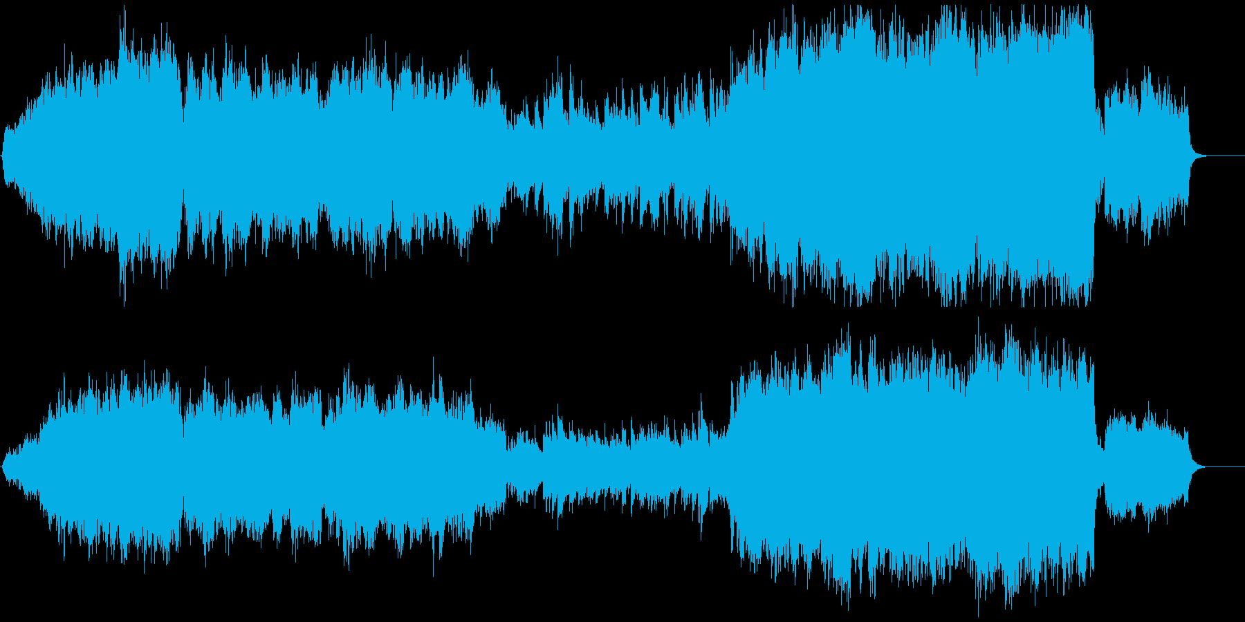 ほのぼのとしたオーケストラ楽曲の再生済みの波形
