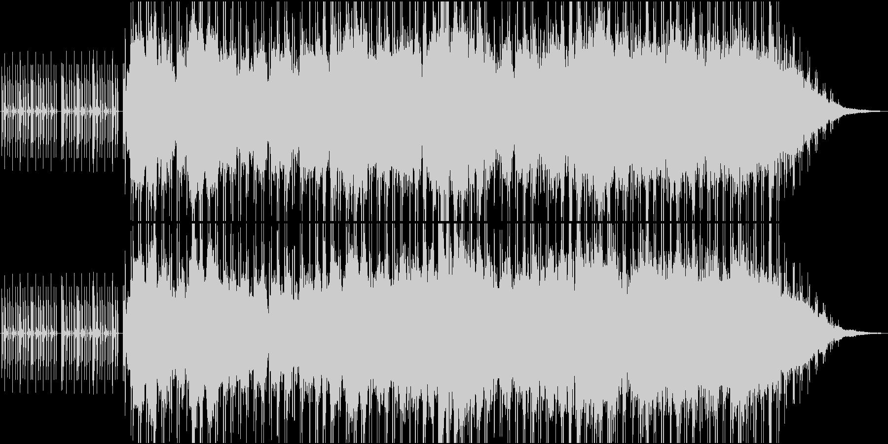 静かなエレクトロニカの未再生の波形