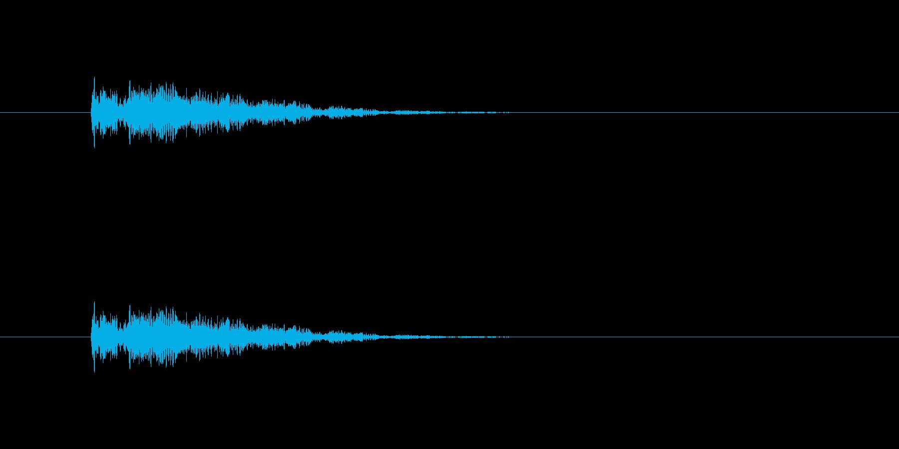 ポップ倒れるの再生済みの波形