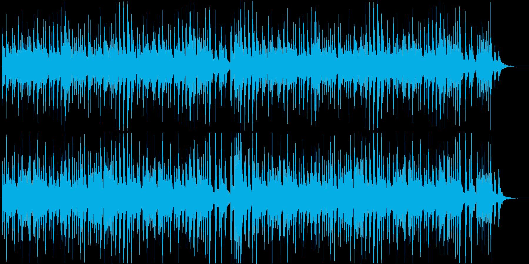 いたずらっ子が逃げ回るオケ曲の再生済みの波形