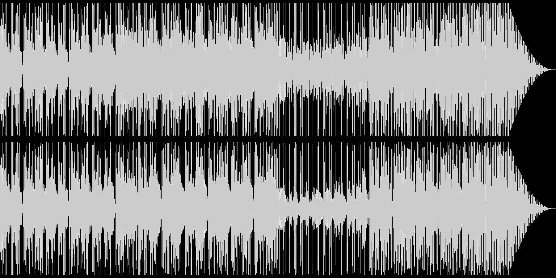 実験中に流れていそうな楽曲の未再生の波形