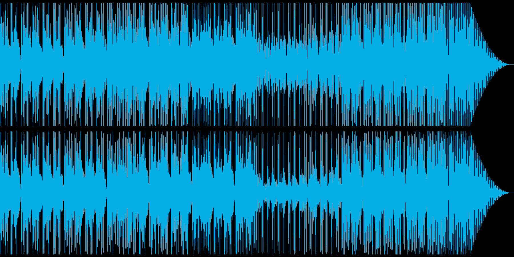 実験中に流れていそうな楽曲の再生済みの波形