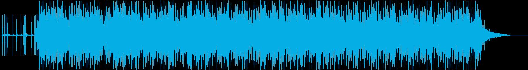 爽やかでお洒落なシンセポップバンドの再生済みの波形
