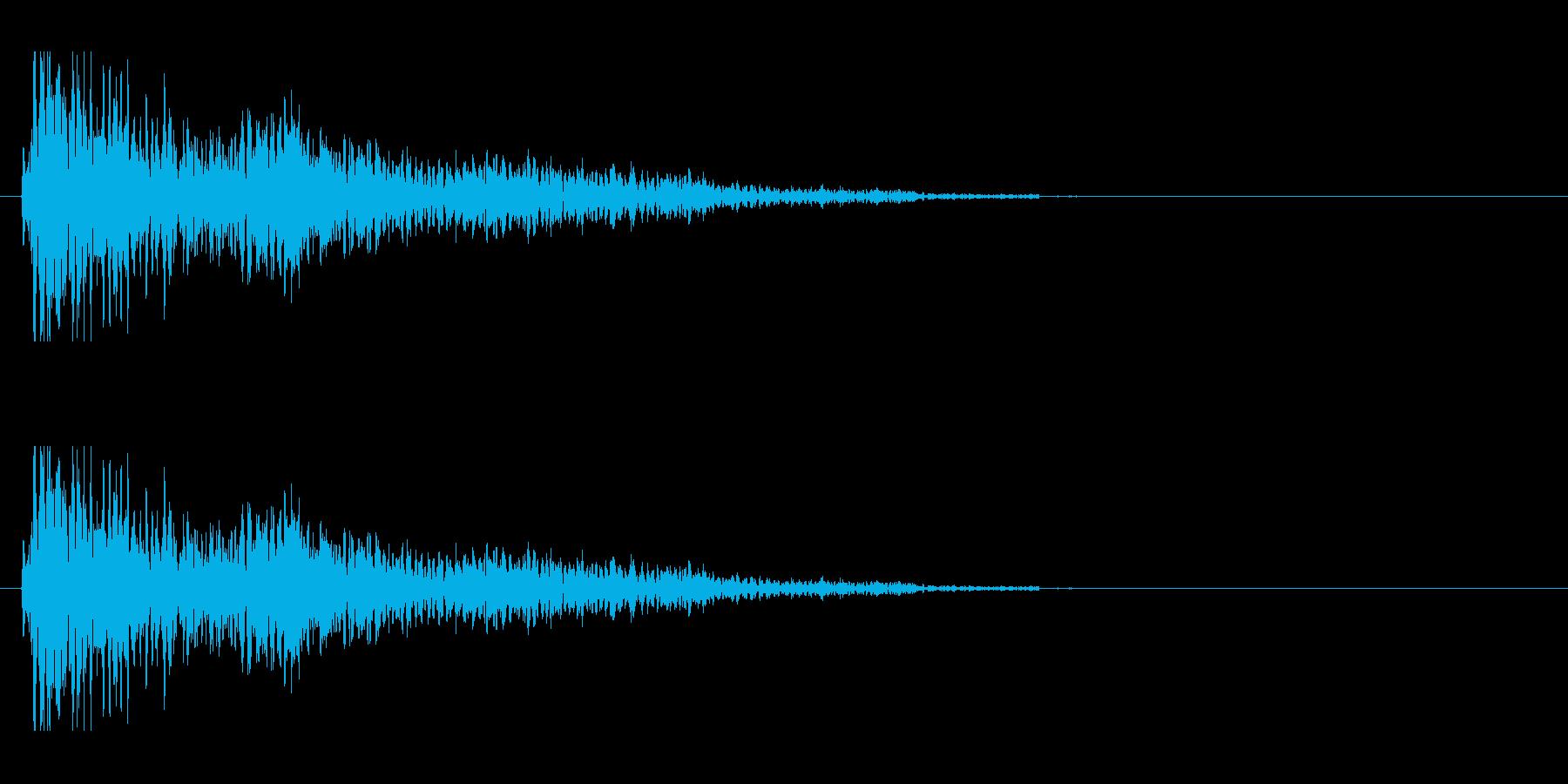 ホラーな演出に 4の再生済みの波形