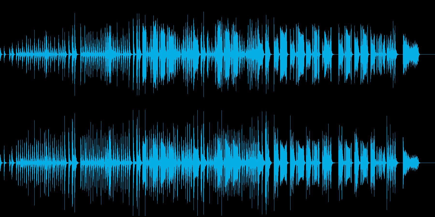 どよーんとしたコミカルな会話シーンの劇伴の再生済みの波形