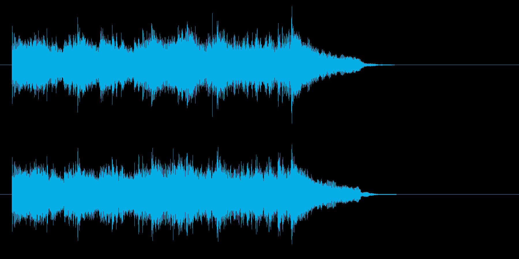 コーナー・タイトル風ポップなジングルの再生済みの波形