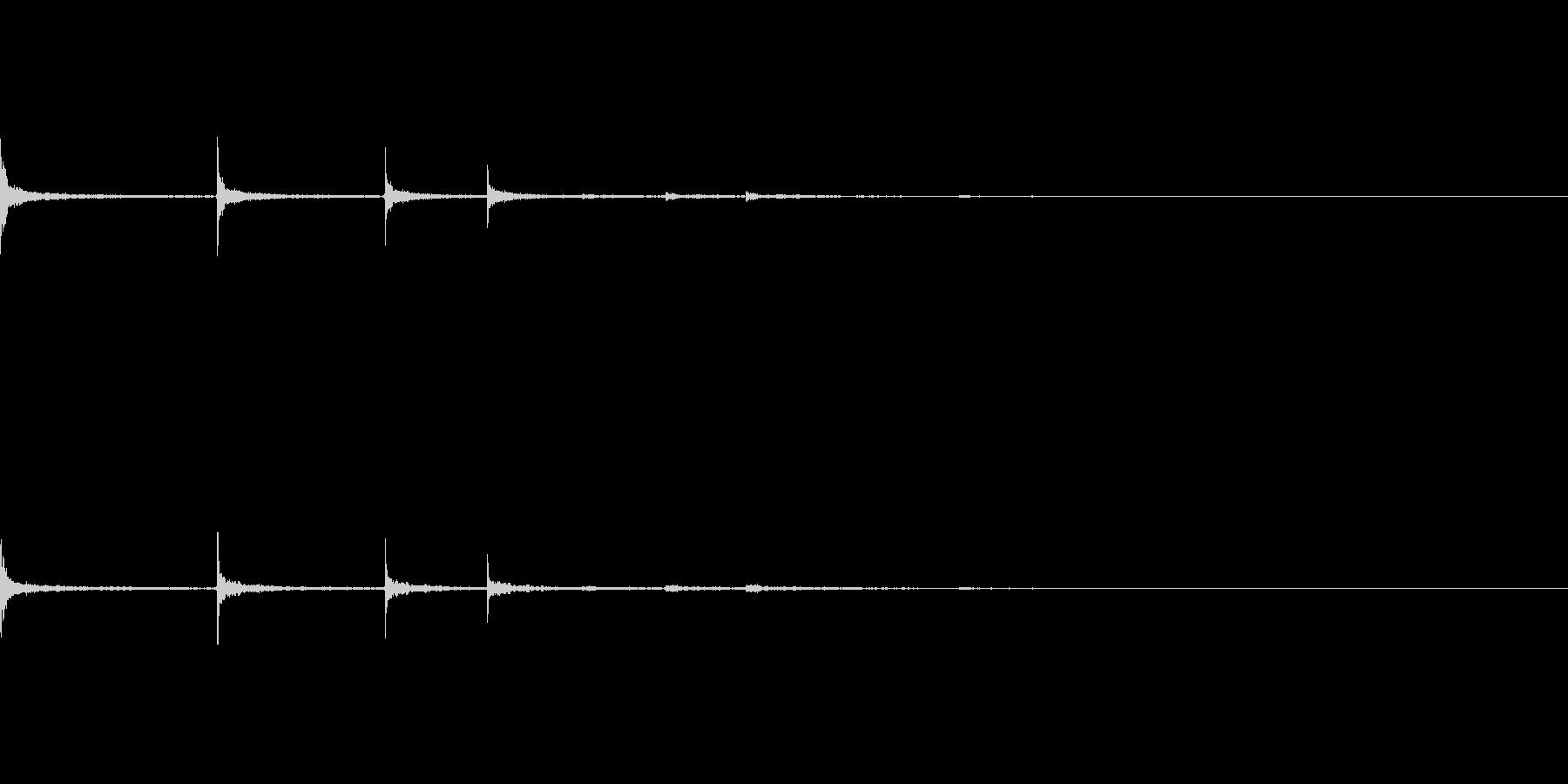 【SE 効果音】金属音の未再生の波形