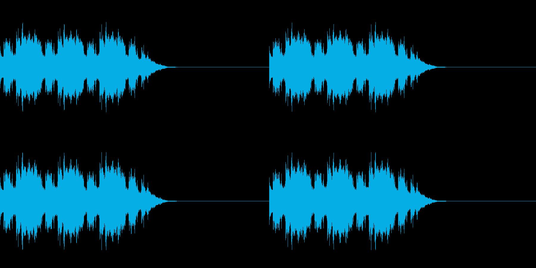 黒電話の着信音の再生済みの波形