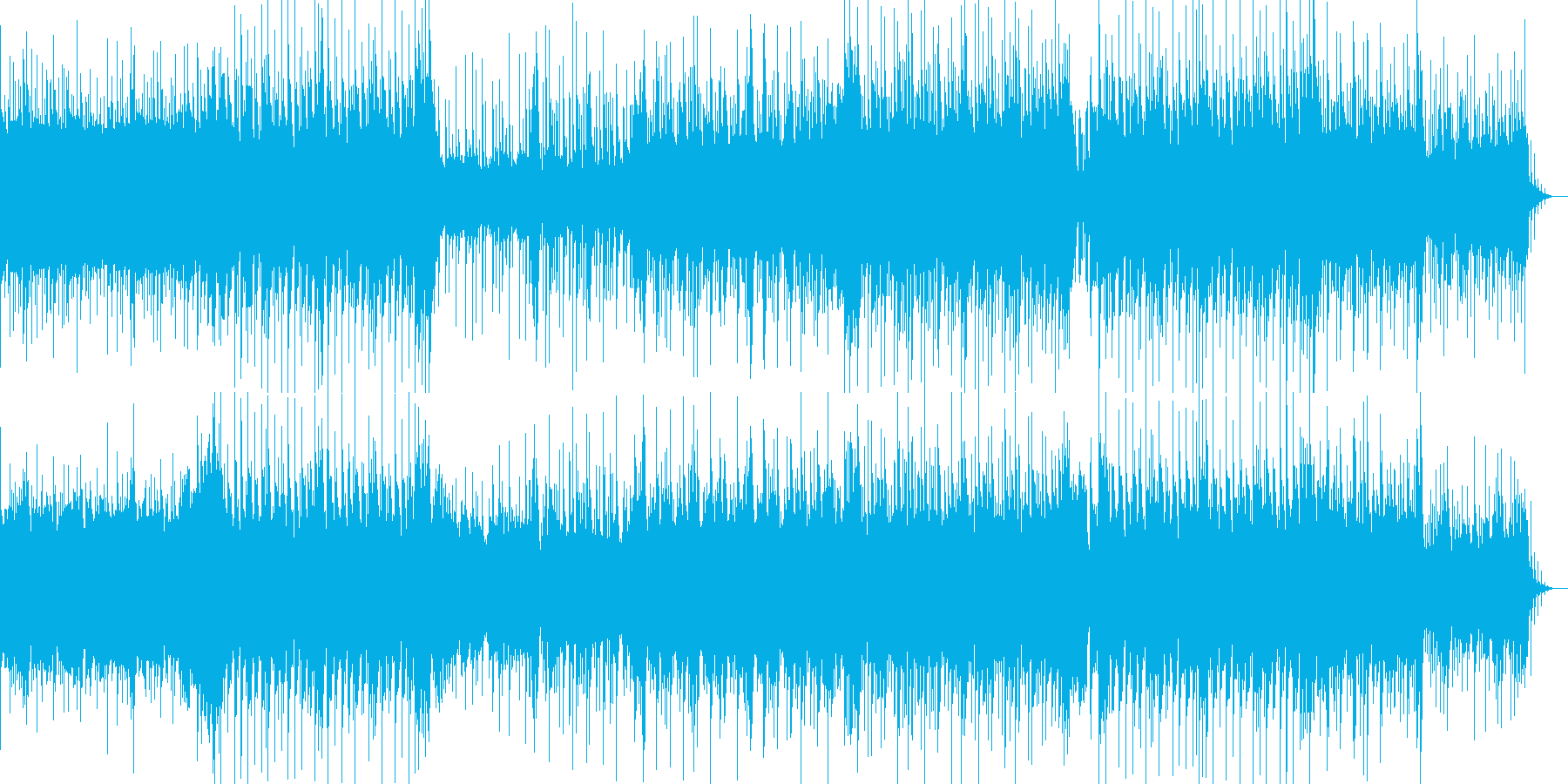 元気が良くて壮大な雰囲気のBGMの再生済みの波形