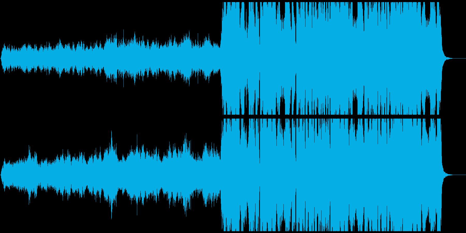 ベートーベン「第九」第四楽章の一部抜粋の再生済みの波形
