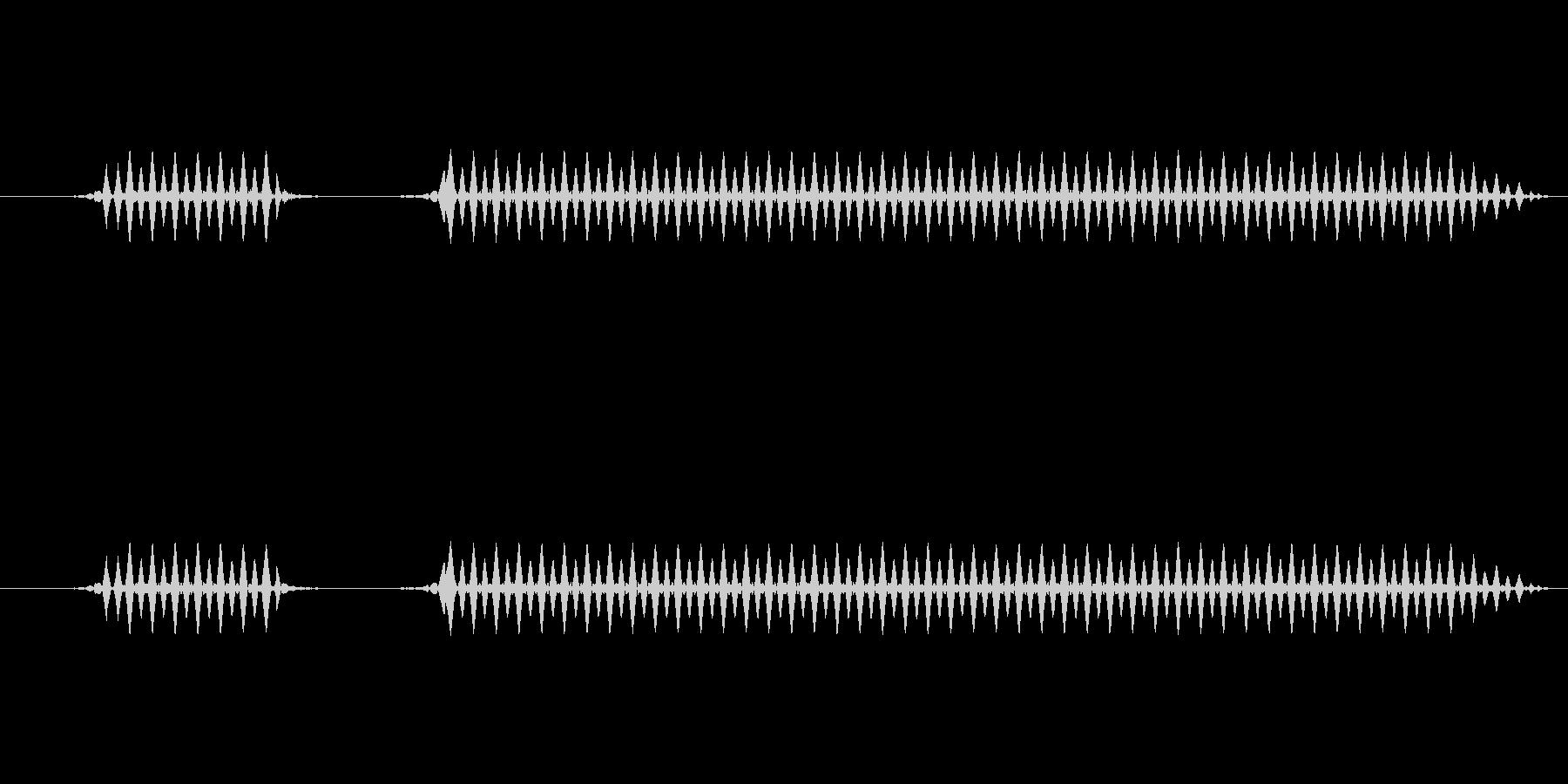 ブブー(中)【不正解、エラー】の未再生の波形