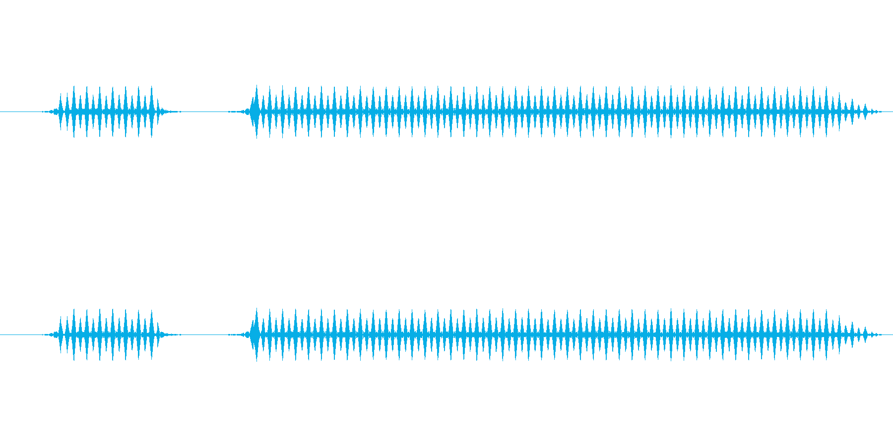 ブブー(中)【不正解、エラー】の再生済みの波形