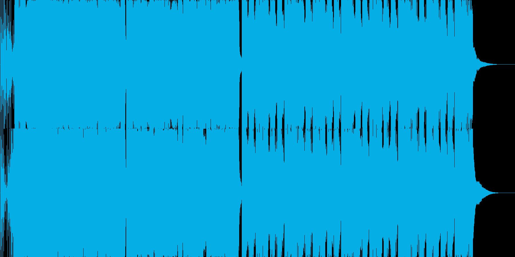 コミカルな映像に合いそうなモダンロックの再生済みの波形