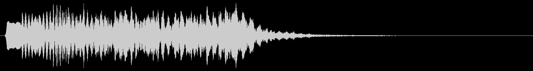 下降音 ヒューン トゥルルル 8bitの未再生の波形