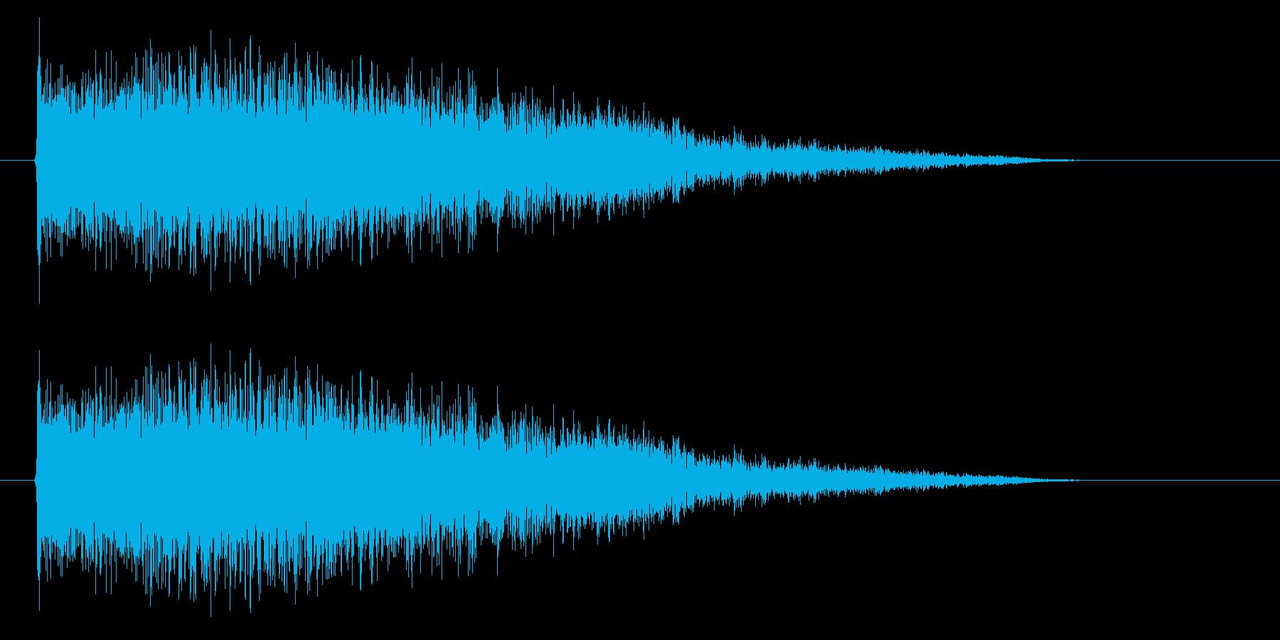 扉が開くようなピシューというSF的効果音の再生済みの波形