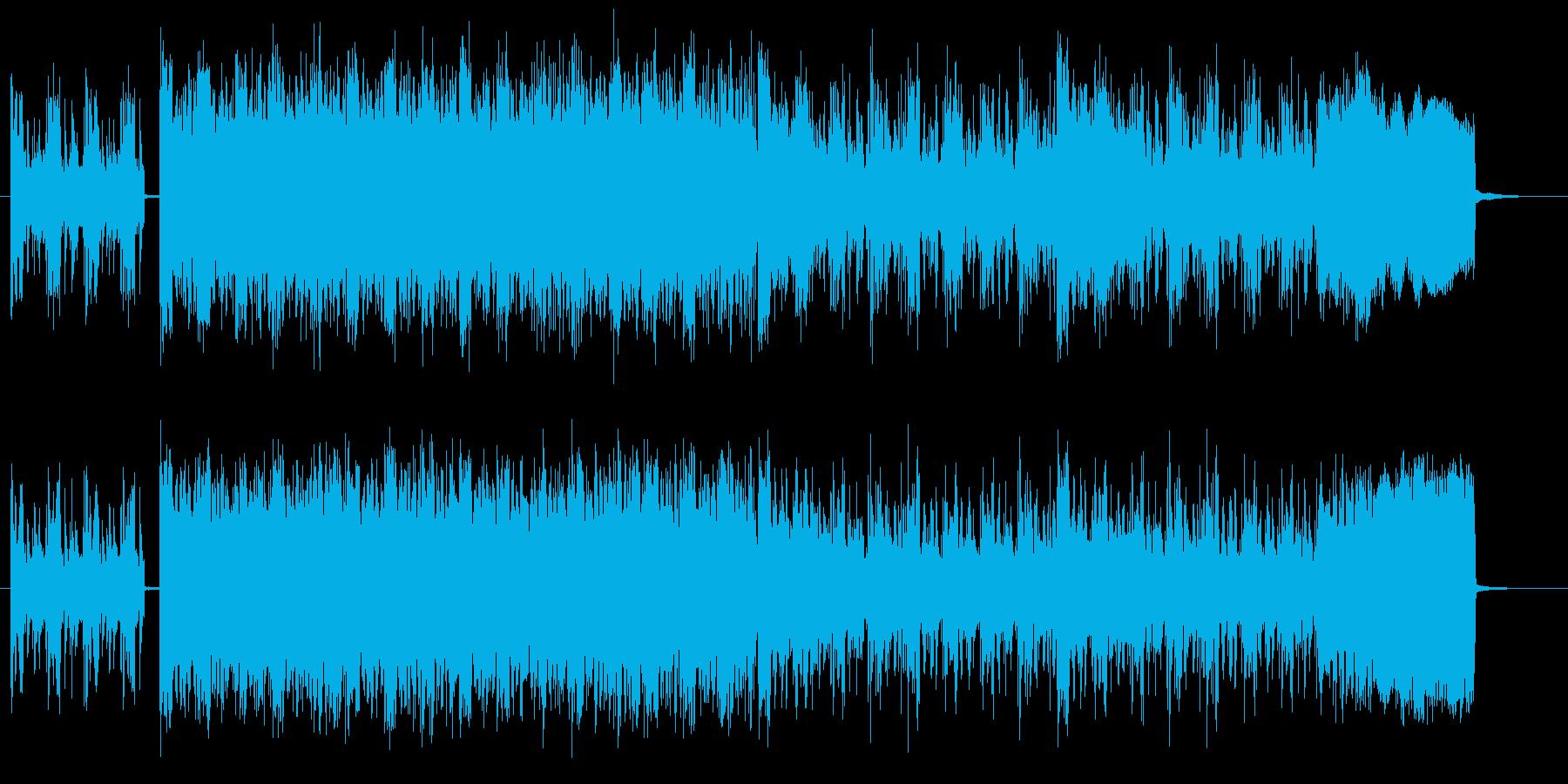 宇宙感と疾走感あるドラムシンセサウンドの再生済みの波形