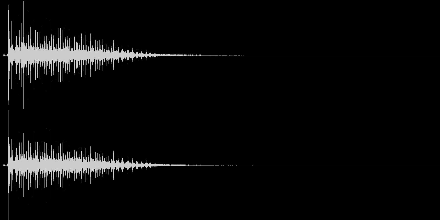 時代劇演出音(カア~ッ)の未再生の波形
