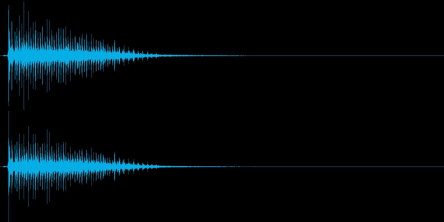 時代劇演出音(カア~ッ)の再生済みの波形