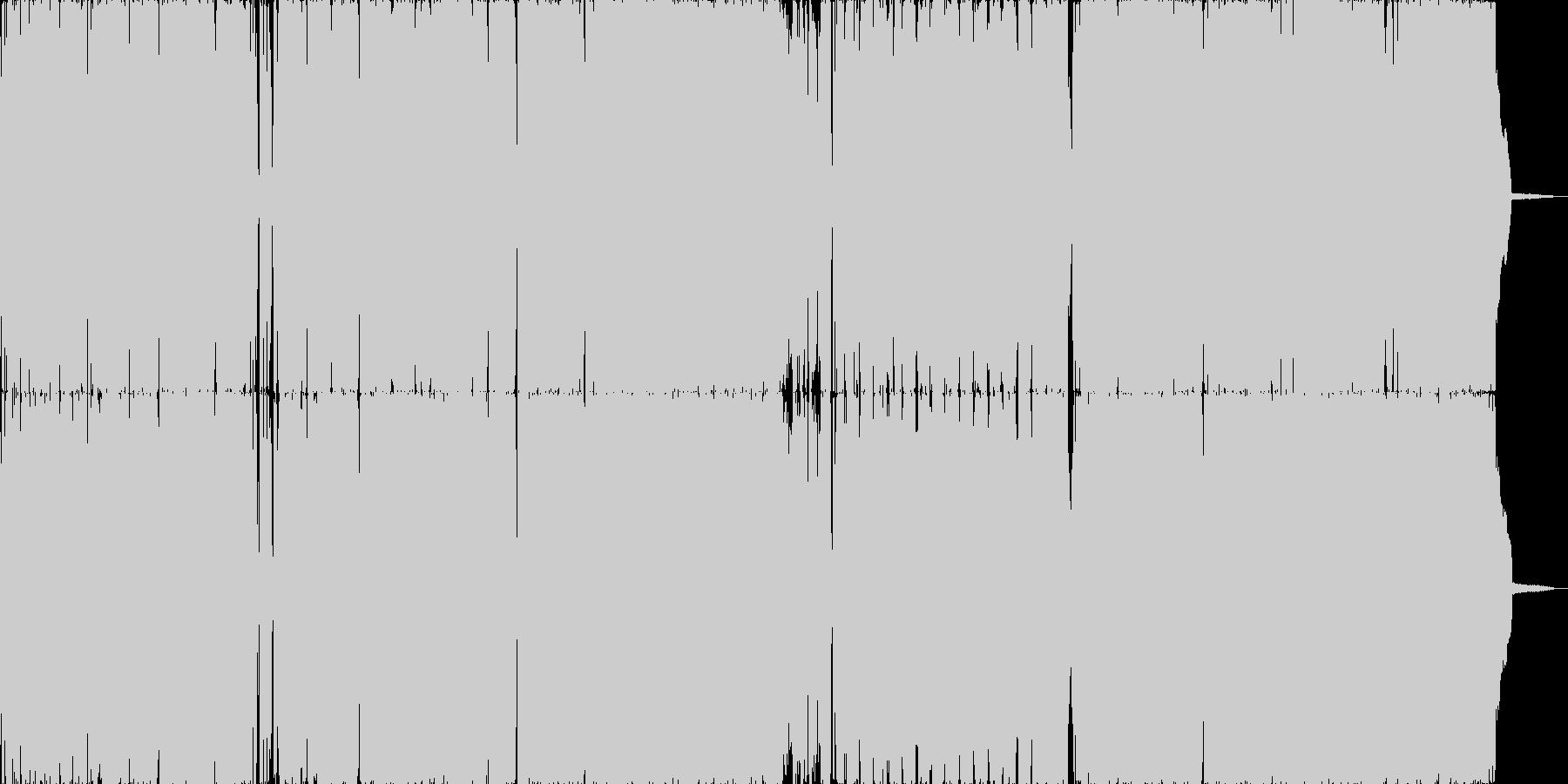 ダークで破壊神的なゴシックロックの未再生の波形
