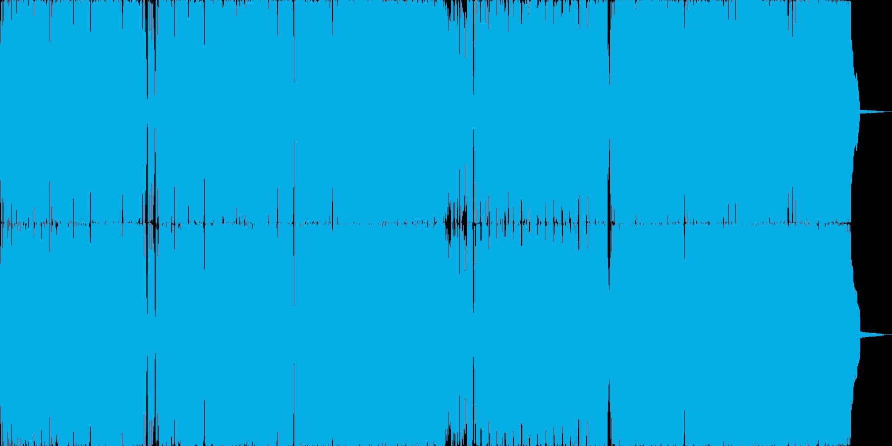 ダークで破壊神的なゴシックロックの再生済みの波形