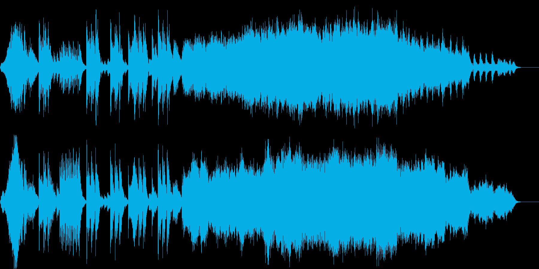 オーケストラで迫力のある出発を表現の再生済みの波形