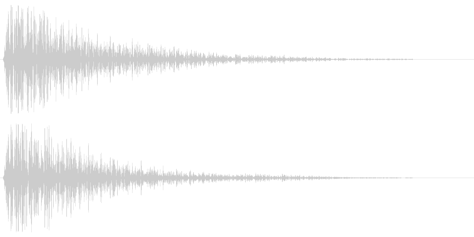 ガーンという暗い金属音の未再生の波形