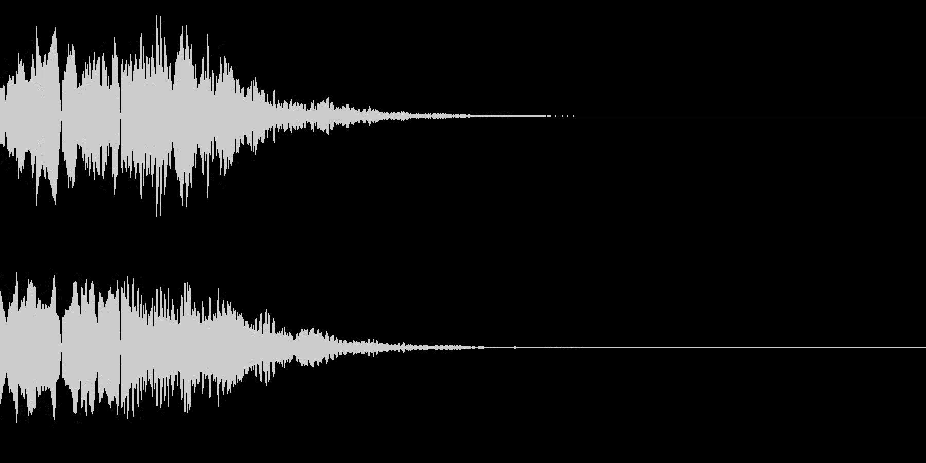 ボタン、テロップの未再生の波形